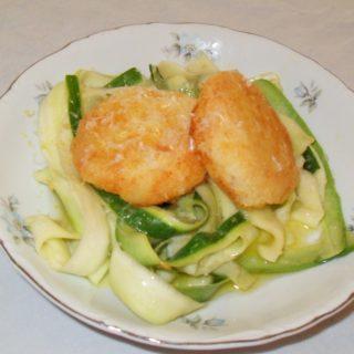 Zucchini Noodles with Potato Cakes