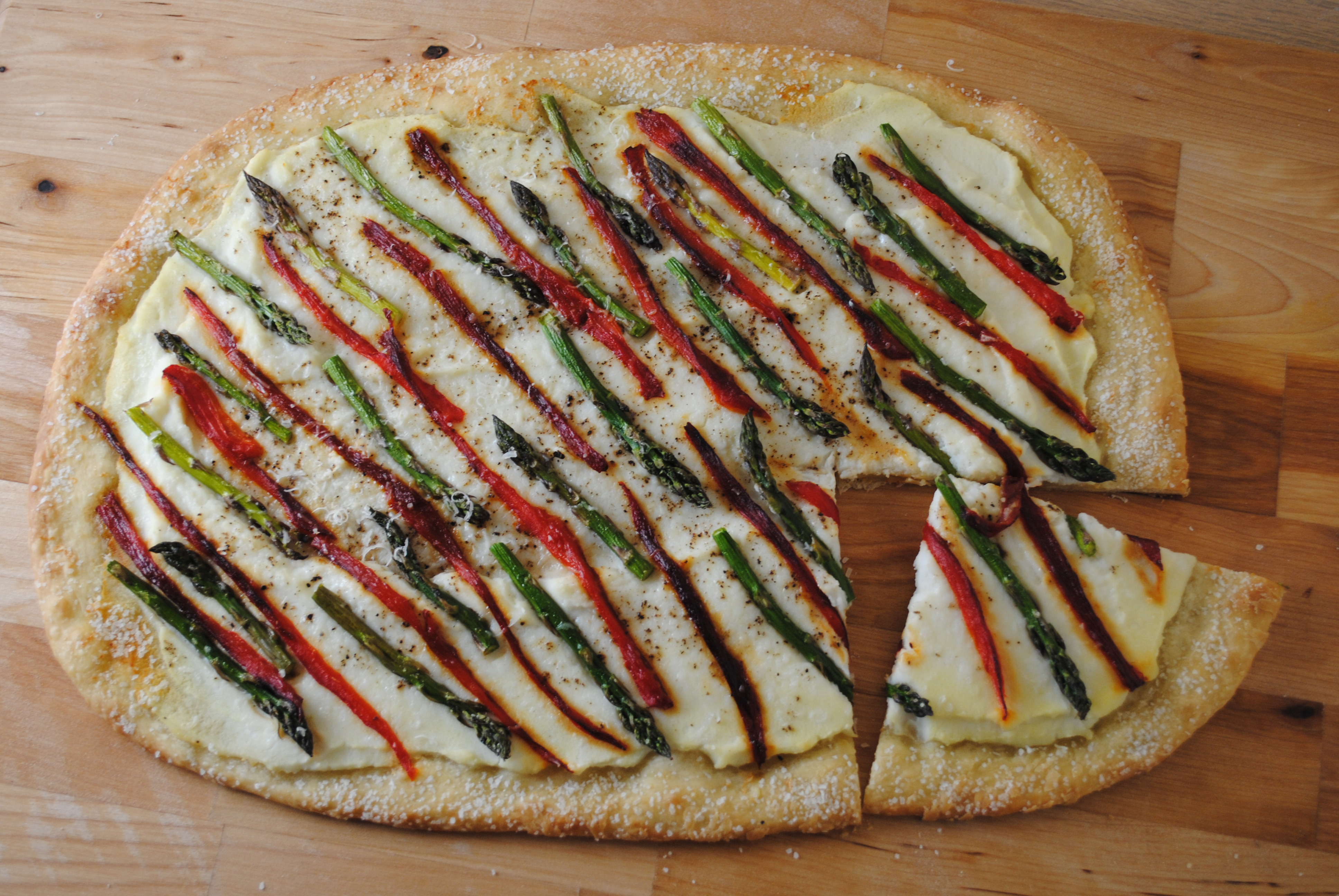 and ricotta grilled asparagus and ricotta ricotta grilled pizza
