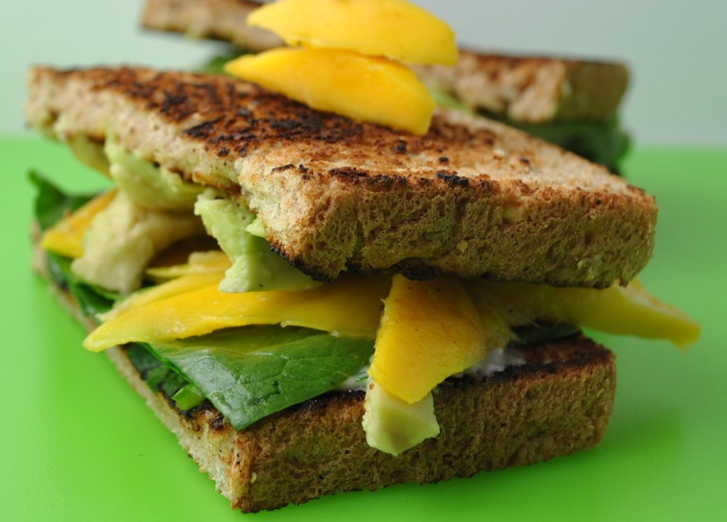 mango 029 1024x736 Avocado and Mango Sandwiches with Cilantro Lime Mayo sandwiches dinners appetizers