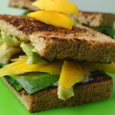 Avocado and Mango Sandwiches with Cilantro Lime Mayo