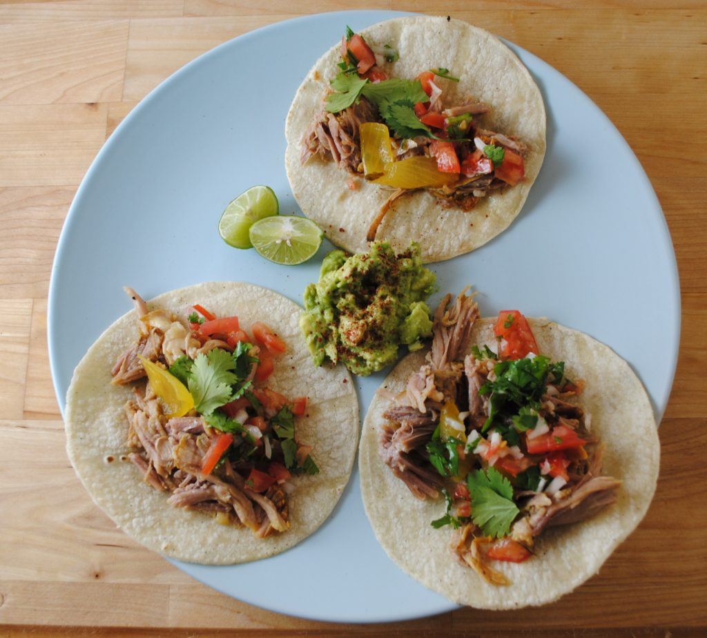 butt tacos 072 1024x924 Rick Baylesss Slow Cooked Achiote Pork uncategorized mexican dinners celebrity chefs