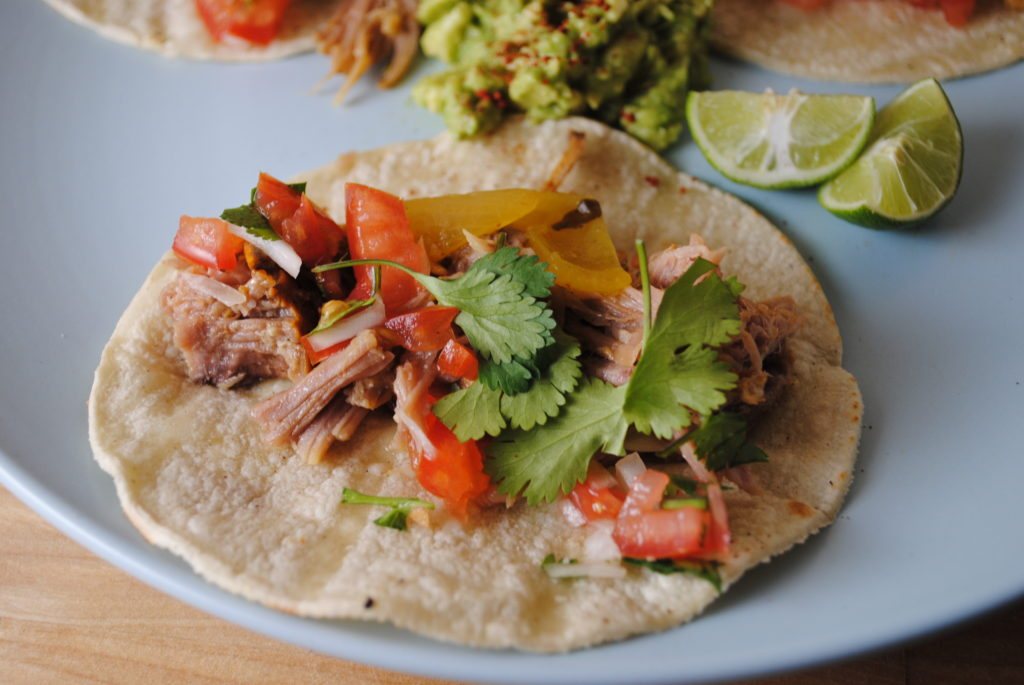 butt tacos 090 1024x685 Rick Baylesss Slow Cooked Achiote Pork uncategorized mexican dinners celebrity chefs