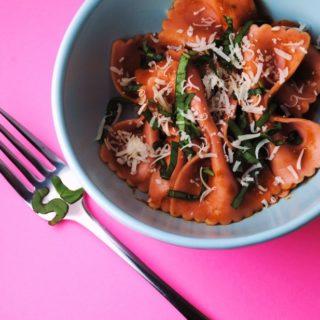 Tomato Basil and Balsamic Pasta