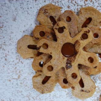 Tortilla Snowflakes with Cajeta