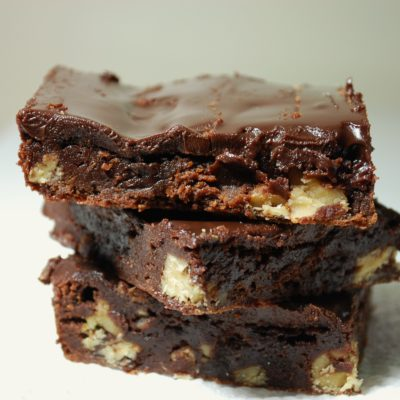 Lavender Brownies with Lavender Chocolate Ganache