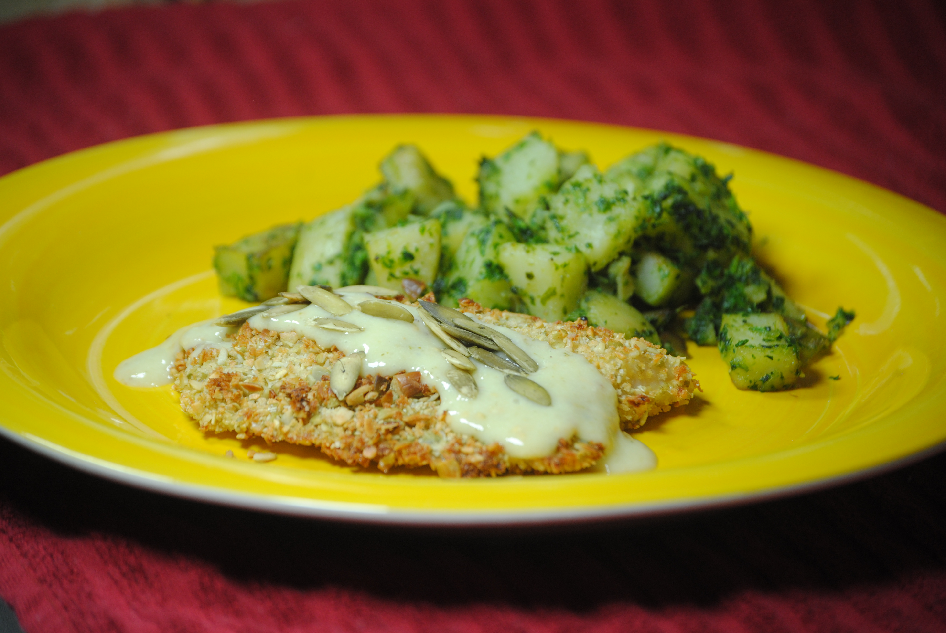 crispy baked coconut crusted tilapia tilapia baked in thai green curry ...