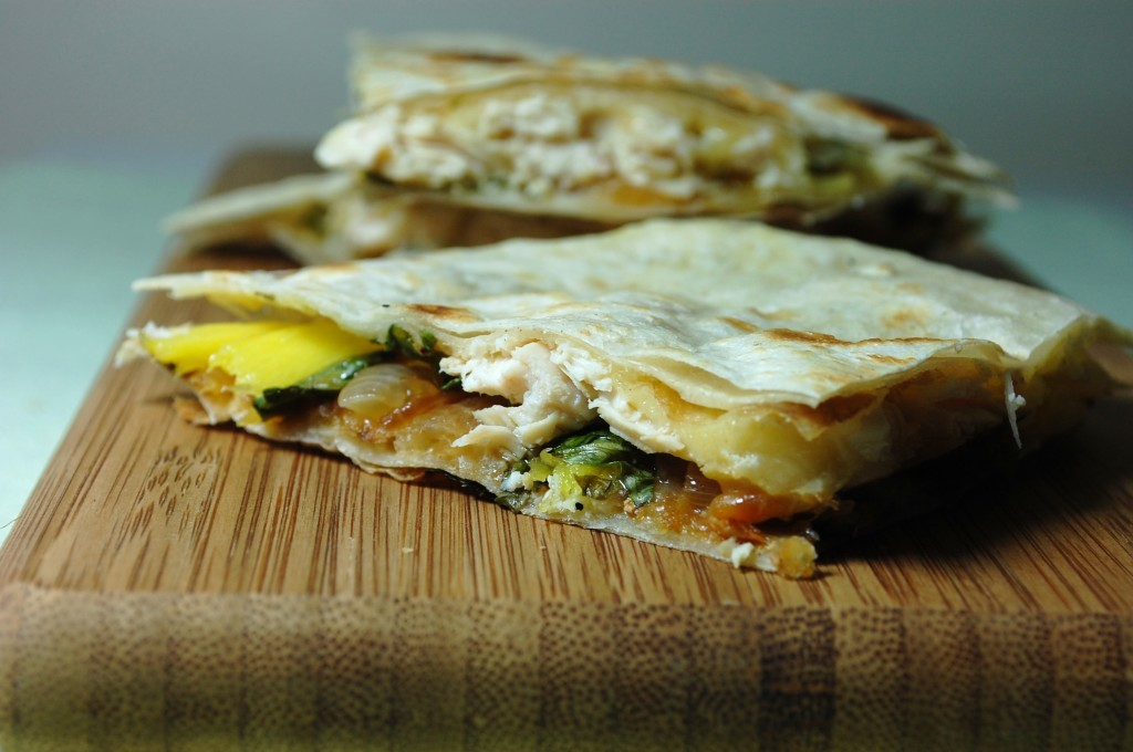 mango chicken quesadilla 005 1024x680 Mango Chicken Quesadillas and Roasted Oregano Strawberry Tostadas uncategorized