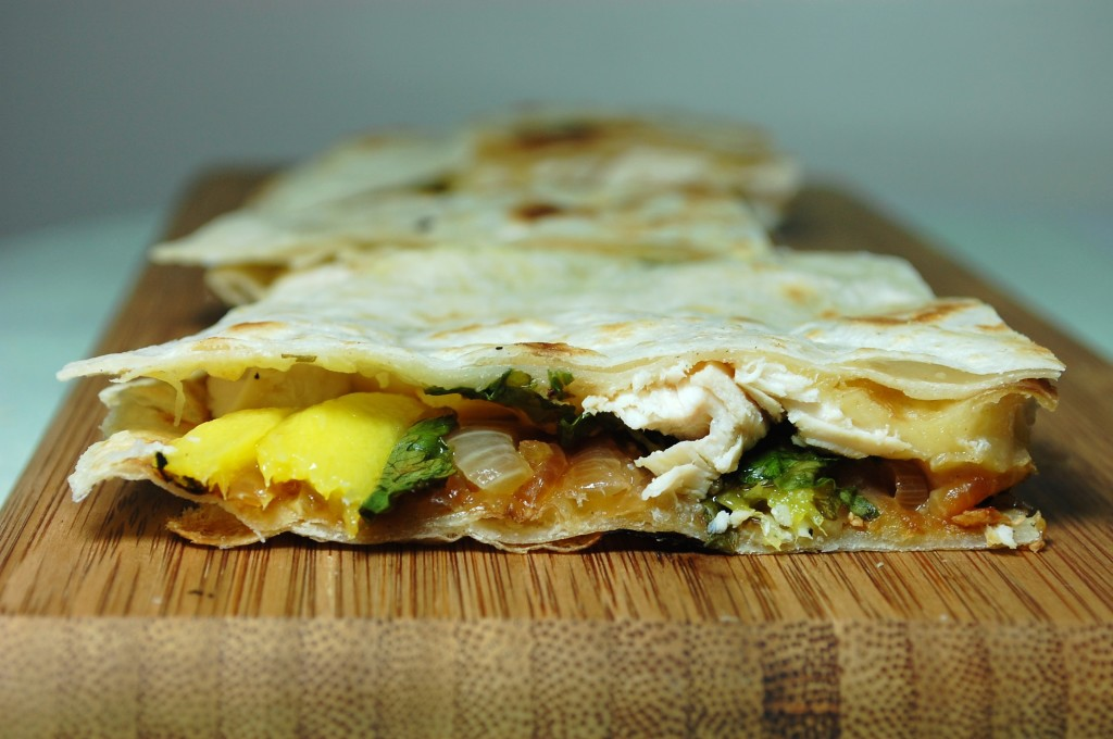 mango chicken quesadilla 014 1024x680 Mango Chicken Quesadillas and Roasted Oregano Strawberry Tostadas uncategorized