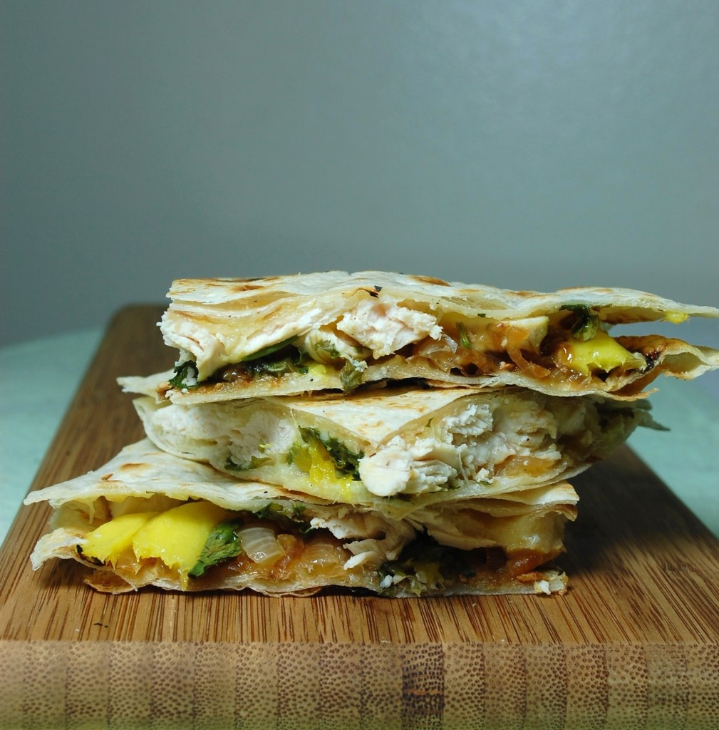 mango chicken quesadilla 018 1009x1024 Mango Chicken Quesadillas and Roasted Oregano Strawberry Tostadas uncategorized