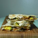 Mango Chicken Quesadillas and Roasted Oregano Strawberry Tostadas
