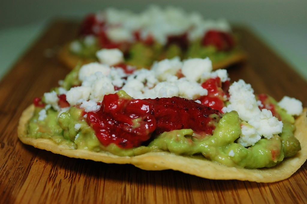 roasted strawberry tostada 065 1024x680 Mango Chicken Quesadillas and Roasted Oregano Strawberry Tostadas uncategorized