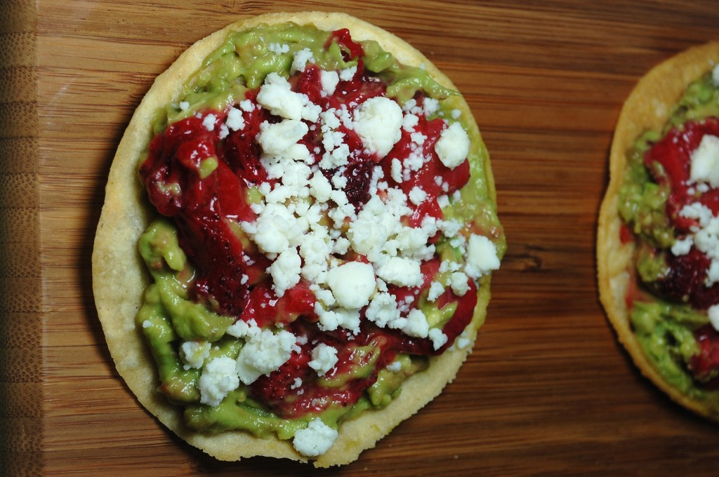 roasted strawberry tostada 069 1024x680 Mango Chicken Quesadillas and Roasted Oregano Strawberry Tostadas uncategorized