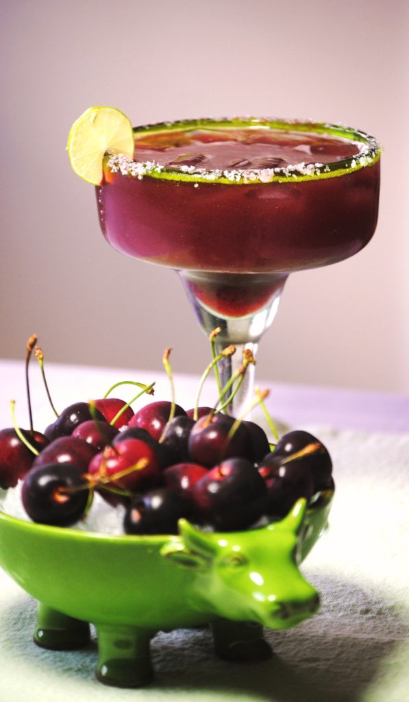 cherry margarita 015 597x1024 Cherry Margarita  fruit margaritas beverages