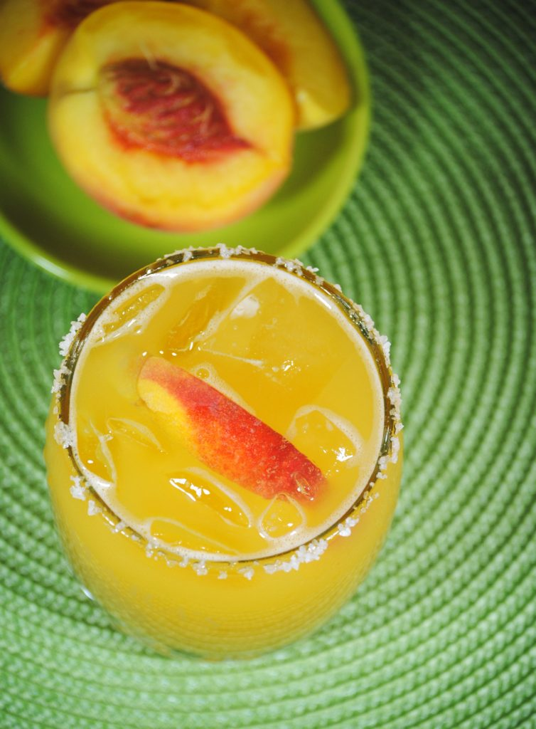 peach margarita 023 754x1024 Peach Margarita   fruit margaritas beverages