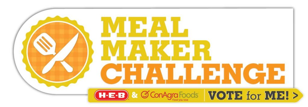 ConAgra HEB Meal Maker Challenge Vote for Me Logo Final 2 1024x357 Easy Mole sweet treats salads dinners cooking challenges