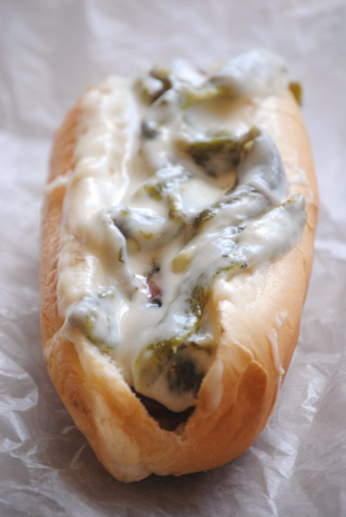 rajas con queso hot dog dog 015 685x1024 The Raja Dog ~The Mexican Dog sandwiches