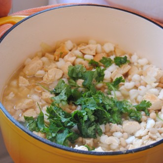 Cumin Chicken Hominy Stew