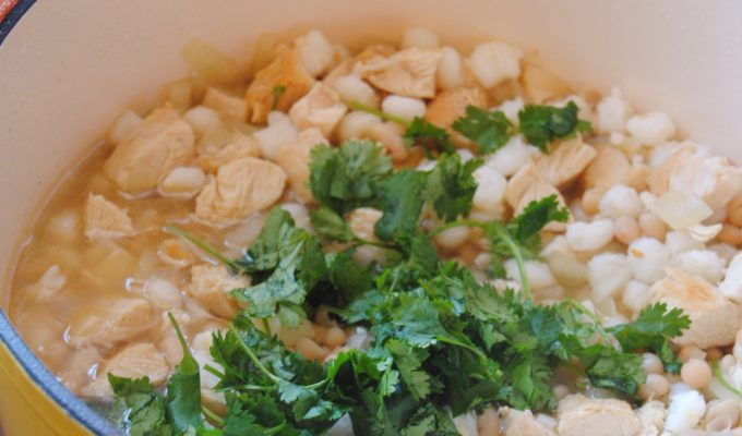 Cumin Chicken Hominy Stew