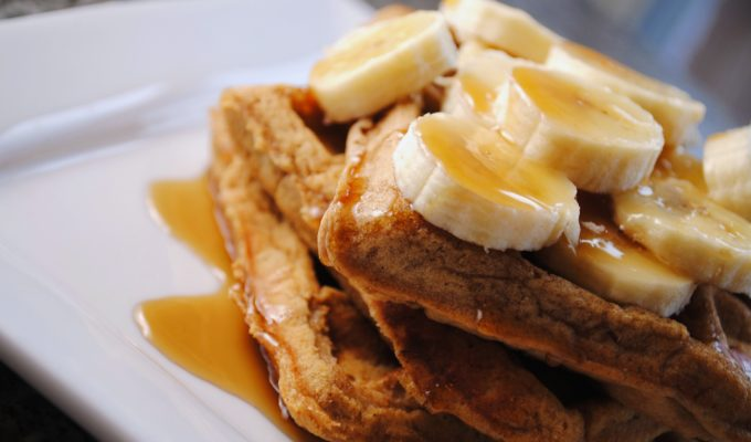 Celebrate a New Season of Curious George with Banana Sour Cream Waffles