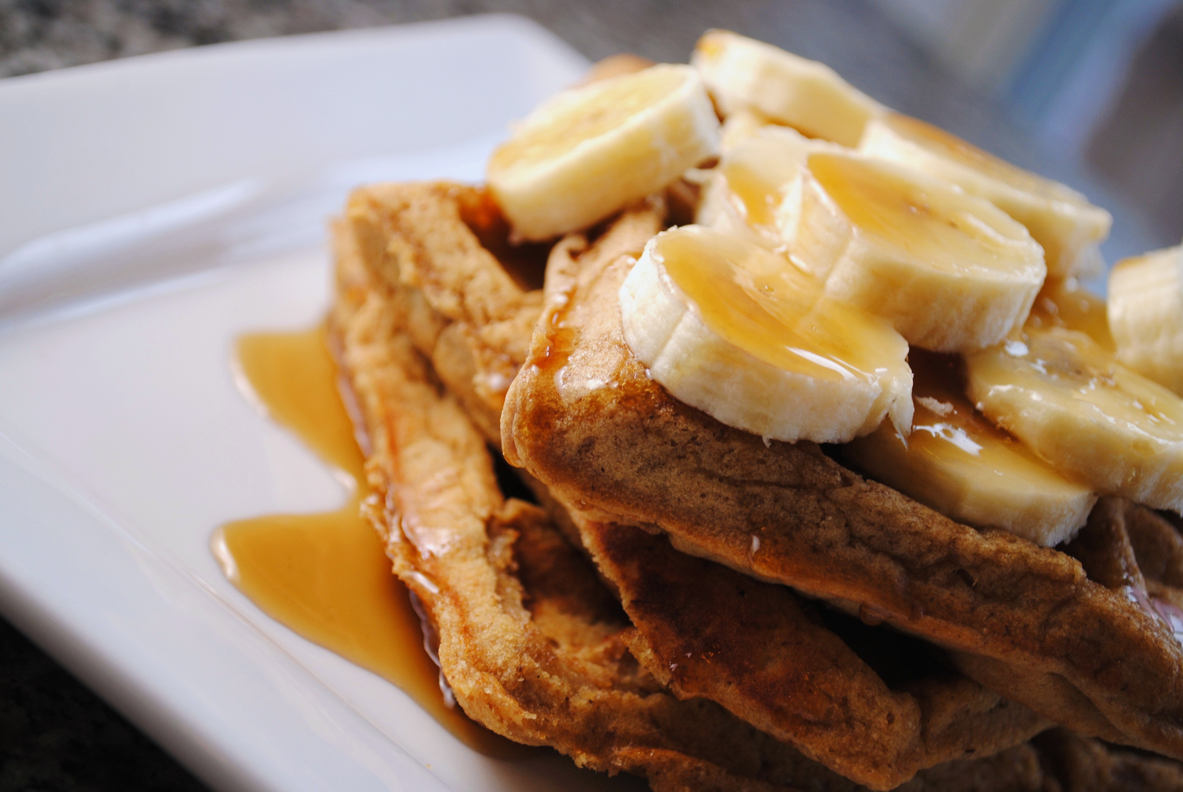 ... Season of Curious George with Banana Sour Cream Waffles - Sweet Life