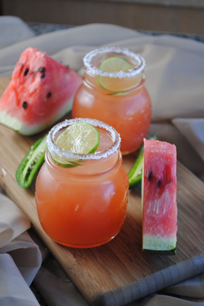 spicy watermelon margarita 014 685x1024 Spicy Watermelon Margarita spicy margaritas melon margaritas fruit margaritas
