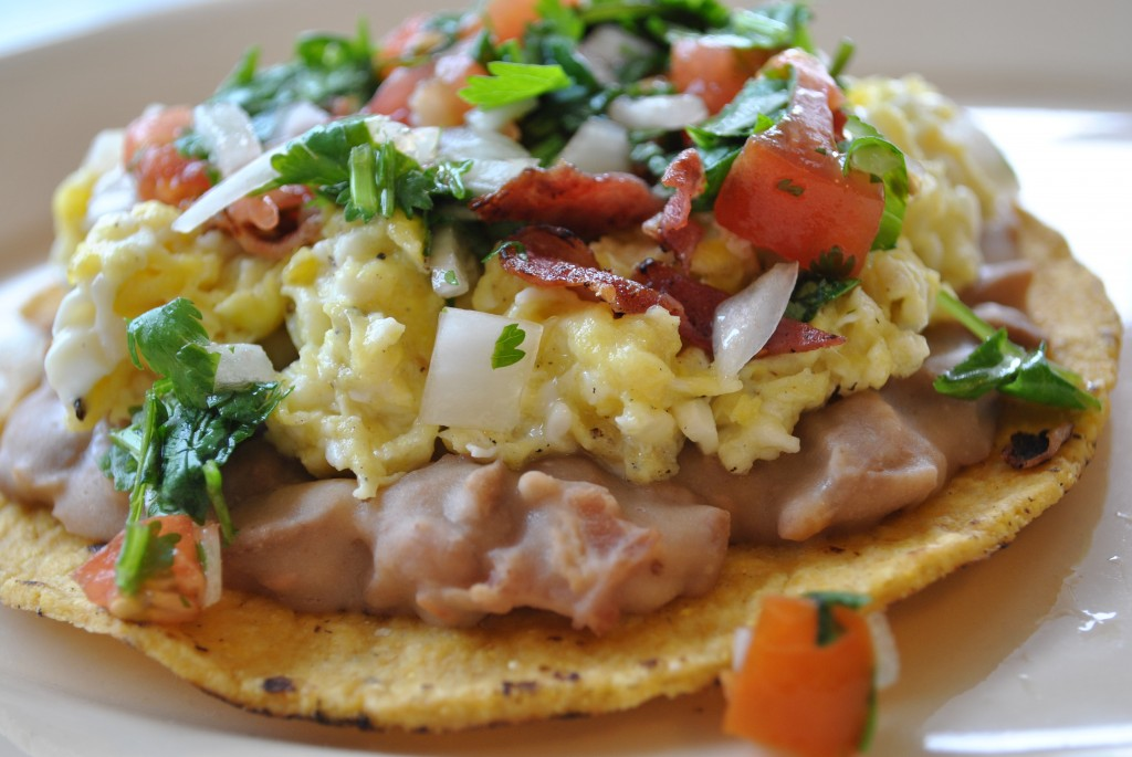 breakfast tostada 1 Breakfast Tostada  mexican dinners breakfasts