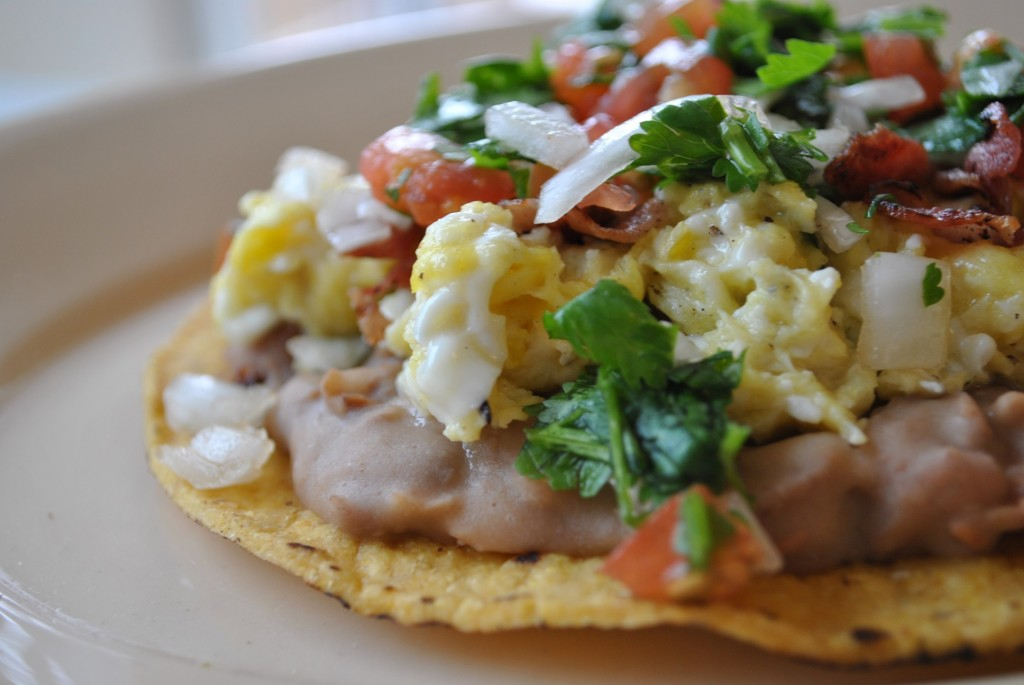 breakfast tostada 2 Breakfast Tostada  mexican dinners breakfasts