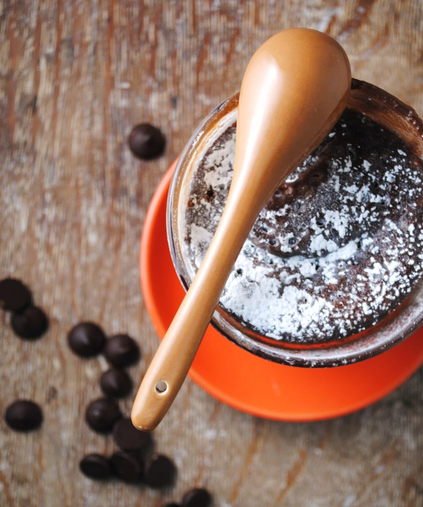 chocolate cake in a mug 025 854x1024 New Recipe over at New Latina guest posts