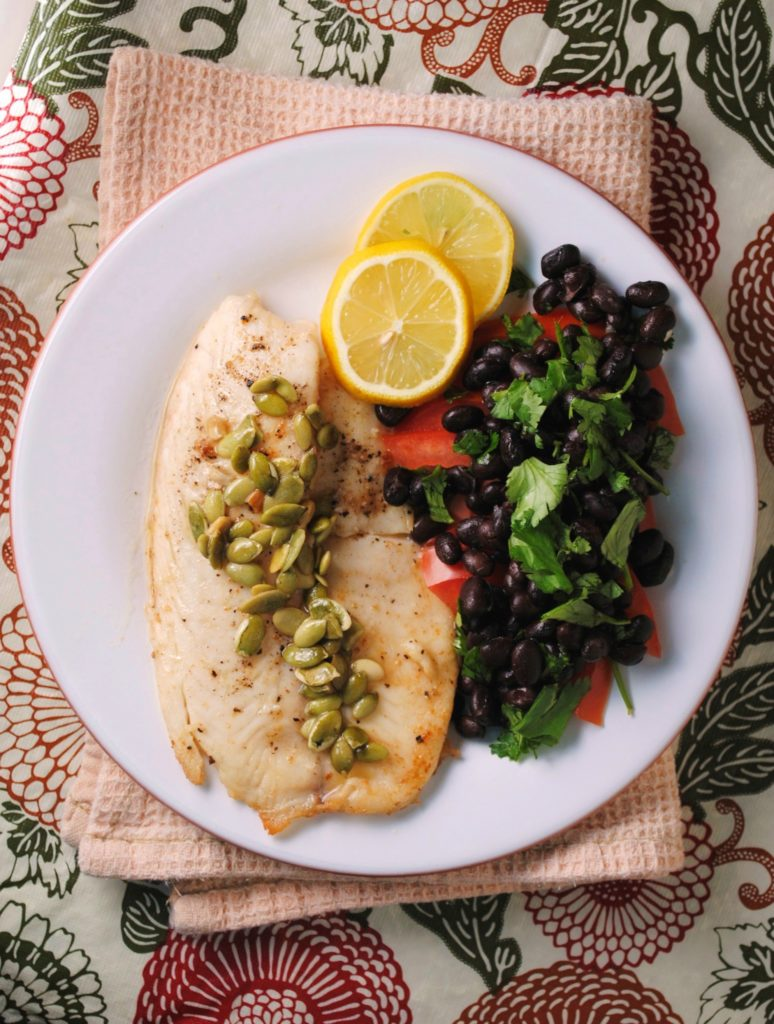 tilapia with lemon pepita sauce 007 1 774x1024 Tilapia with Lemon Pepita Sauce mexican lenten recipes holiday recipes dinners