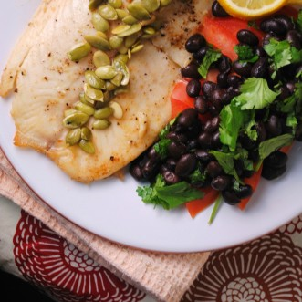 tilapia with lemon pepita sauce 025-1