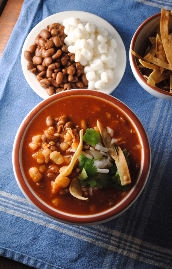 pozole de frijol 020 655x1024 Pozole de Frijol soups stews mexican lenten recipes holiday recipes dinners