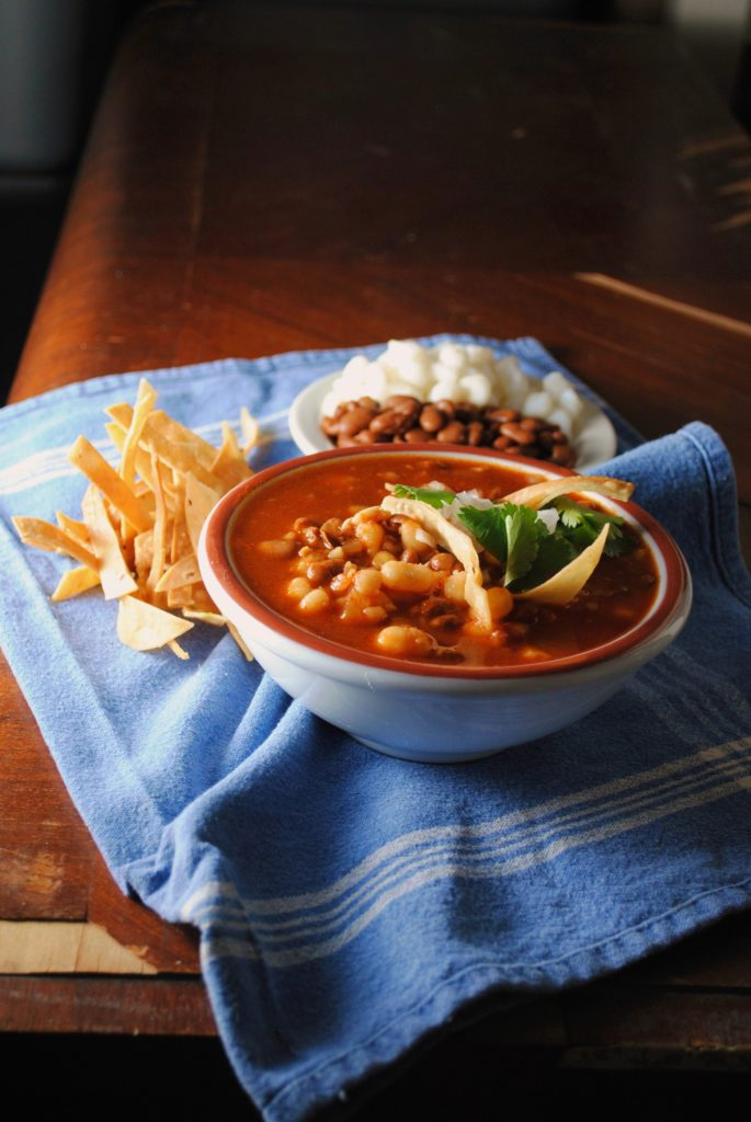 pozole de frijol 069 685x1024 Pozole de Frijol soups stews mexican lenten recipes holiday recipes dinners