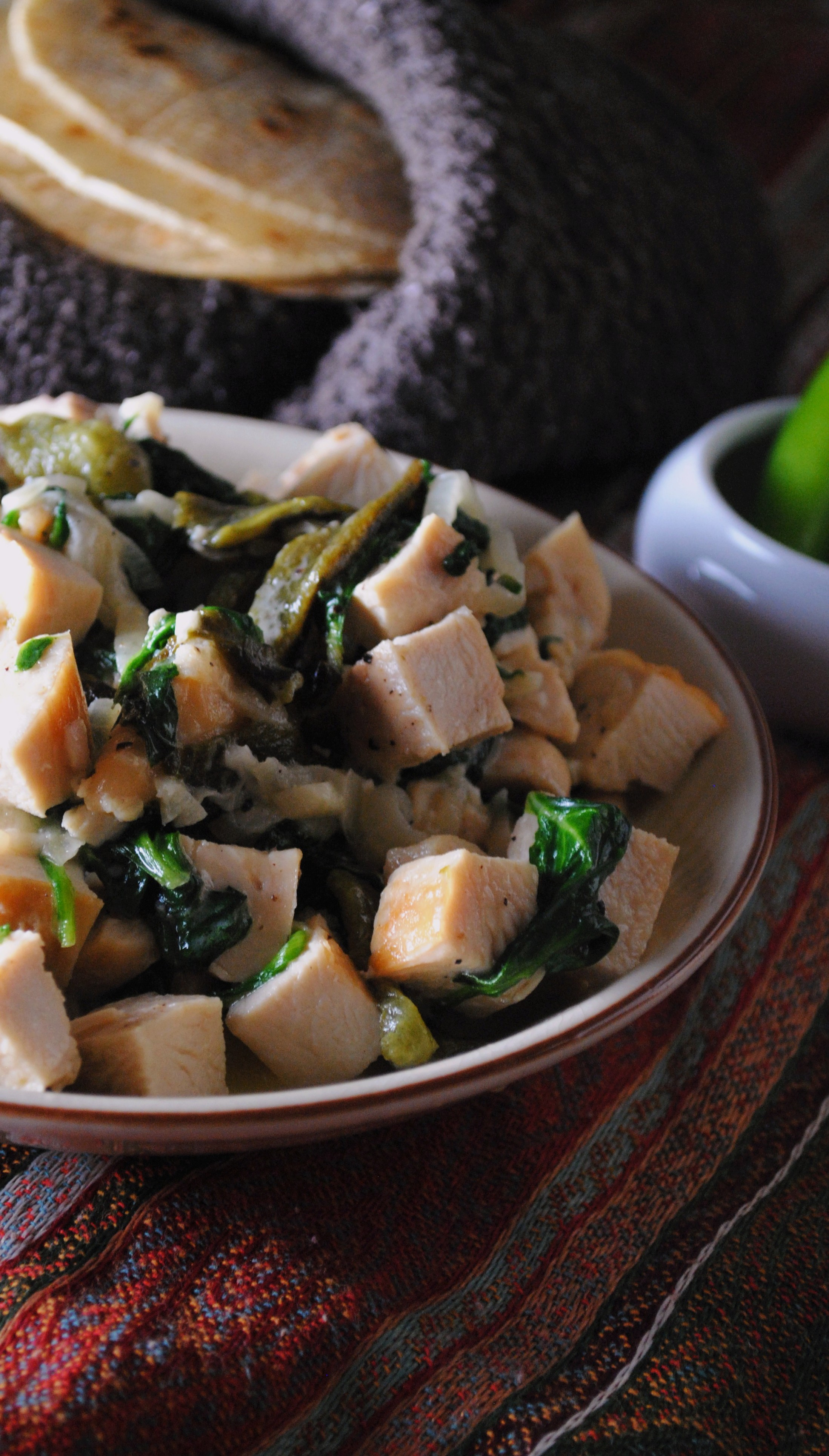 ... Greens With Roasted Poblano And Caramelized Onion Recipe — Dishmaps