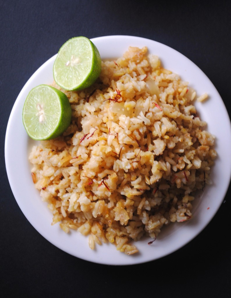 arroz con azafran saffron rice 003 793x1024 Arroz con Azafrán side dishes mexican dinners