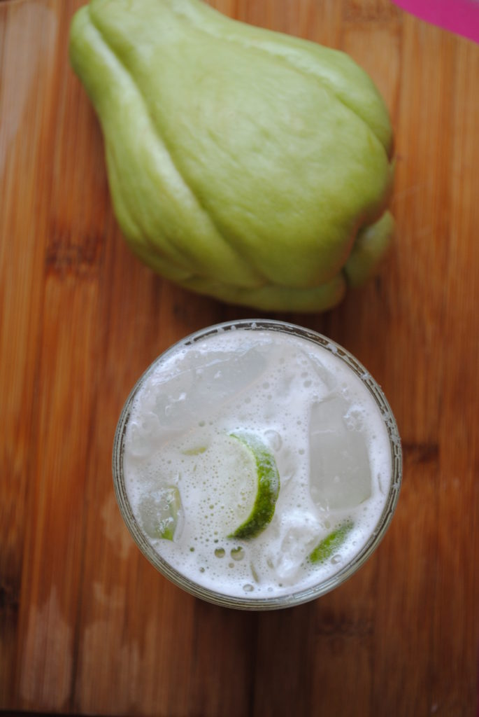 AGUA DE CHAYOTE 024 685x1024 Agua de Chayote vegetarian recipes mexican drinks aguas frescas