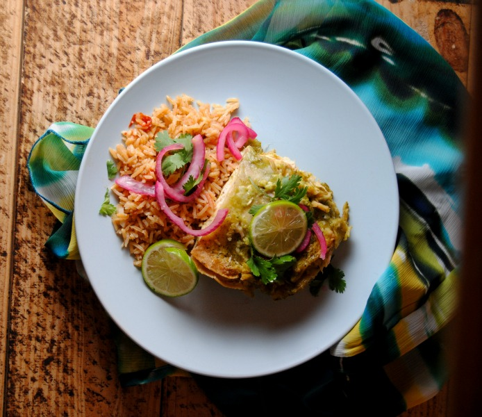 Cafe Tacuba Style Creamy Chicken Enchiladas 2 Cafe Tacuba Style Creamy Chicken Enchiladas spicy recipes rick bayless mexican dinners celebrity chefs