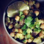 Garbanzo Salad with Mango Cumin Dressing