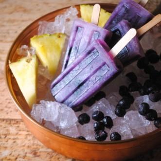 pineapple blueberry paletas, pops 029~1