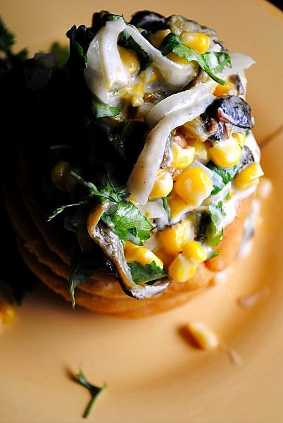 rajas de poblano con elote y crema 0011 Rajas de Poblano con Elote y Crema tacos spicy recipes salsas dips mexican dinners appetizers