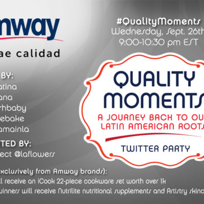 Join us for a Bilingual Twitter Party with Amway #QualityMoments {Prizes}
