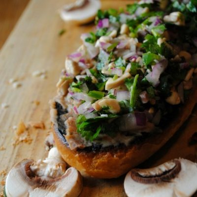 Salsa de Hongos y Jalapeños  {Mushroom, Jalapeño and Cilantro Salsa}