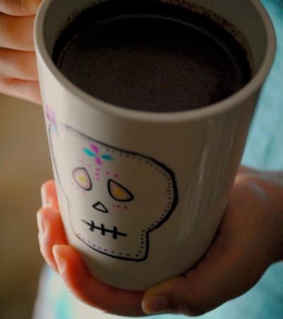 dia de los muertos mexican chocolate mugs 051~1