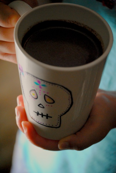 dia de los muertos mexican chocolate mugs 0511 Easy Mexican Hot Chocolate sweet treats mexican drinks day of the dead cooking with kids beverages