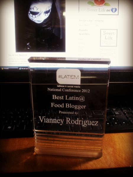 Best Latina Food Blogger Latism 2012 Best Latina Food Blogger uncategorized