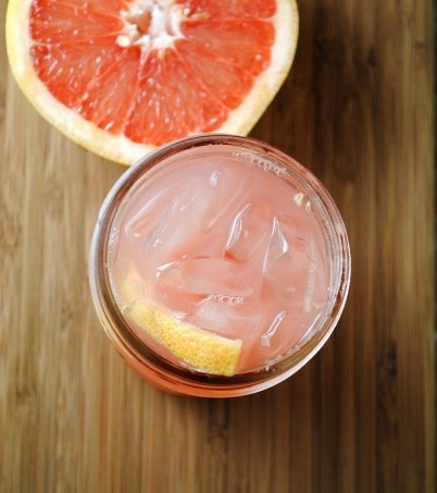 homemade soda, grapefruit soda
