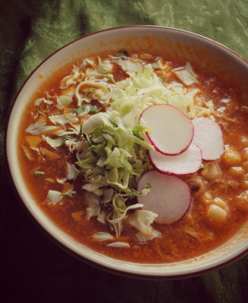 pozole rojo red posole pozole Pozole Rojo spicy recipes soups stews mexican holiday recipes dressings