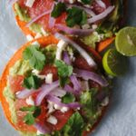 Avocado Grapefruit Tostadas