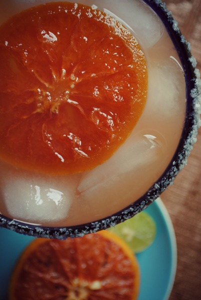graepfruit margarita, candied grapefruit