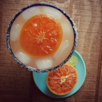Broiled Grapefruit Margarita with Candied Grapefruit Slices