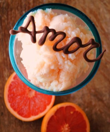 grapefruit granita, ruby red grapefruit,